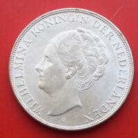 Netherlands-Niederlande: 2 1/2 Gulden 1937 Silber, KM# 165, VZ-XF, #F 2395
