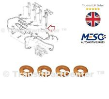 A SET OF 4 O.E. INJECTOR COPPER WASHER SEAL LAND ROVER DEFENDER 2.4 TD4 2007 ON