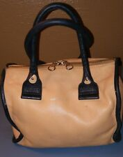 Authentic SEE BY CHLOE Peach Leather Handbag/Satchel Double Zipper