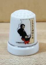 Illinois State Land of Lincoln Souvenir Collectible Thimble