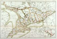1884 Ontario Canada Britannica Antique Map