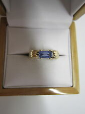 BEAUTIFUL ESTATE 14 KT GOLD  BLUE SAPPHIRE RING !!!!!!!!!!!
