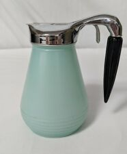RARE Art Deco Frosted Glass Black Bakelite Syrup Glass Dispenser Pitcher FEDERAL