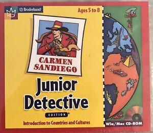 Carmen SanDiego Junior Detective Pc Mac New Win10 8 7 XP Countries Cultures