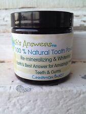 100% Natural Re-Mineralizing & Whitening Tooth Powder, Cinnamon Burst