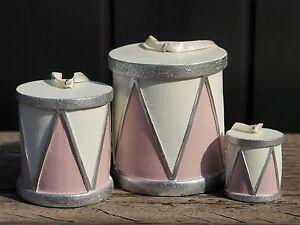 CHIC ANTIQUE Trommel 3-er Set Vintage Drums Advent Weihnachtsdekoration NEU!