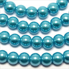 30 pearls Pearly 8mm Turquoise mirror of Bohemian