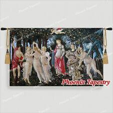 "Sandro Botticelli Allegory of Spring Fine Art Tapestry Wall Hanging, 55""x35"", UK"