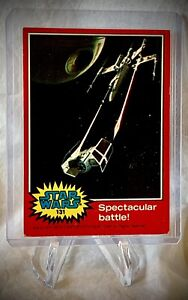 1977 STAR WARS - Spectacular Battle! - Topps Red Series 2 Card #131