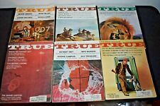 TRUE THE MAN'S MAGAZINE LOT OF 6 (1966)  GREAT ADS & ARTICLES (UFO STORY)