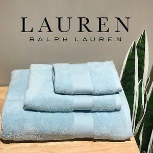 New Lauren Ralph Lauren Wescott 3PC Towel Set (Face, Hand, Bath) Lagoon Blue