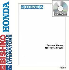 1991 Honda Civic CRX / Si Shop Service Repair Manual CD Engine Drivetrain OEM