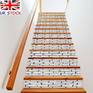 6/13X 3D Stair Riser Staircase Sticker Mural Vinyl Decal Scenery Wallpaper Decor