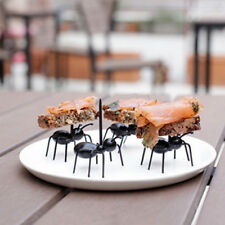 12Pcs Mini Ant Fruit Fork Plastic Tableware Kitchen Gadgets Kids Dessert Forks