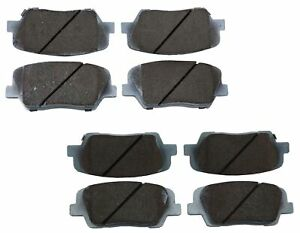 Beck-Arnley Ceramic Front & Rear Brake Pads Kit For Hyundai Santa FE Kia Sorento