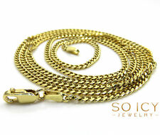 """24"""" Inch 2mm 6.30 Grams 10k Yellow Gold Miami Cuban Chain Necklace Mens"""