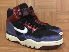 RARE�� Nike Air Force III 3 High Premium Samurai Black Ink Red 313669-012 Sz 10