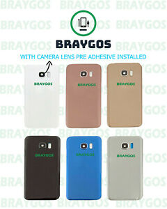 Rear Back Battery Cover Glass For Samsung Galaxy S7 Edge Camera Lens & Adhesive