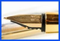 FEND Füller 18 Karat 750er Gold Feder in Silber o. Versilbert & Gold