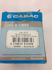 CABAC	CAL 70-12  70mm ²  Copper Lug 12mm Stud Box of 20/25