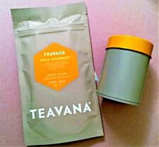 🍑🌈🍑 NEW! 2OZ TEAVANA PEACH TRANQUILITY HERBAL FACTORY SEALED TEA & TIN 🌈🌈🍑