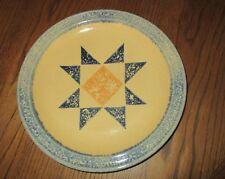 Pfaltzgraff,AMERICA By Request,Yellow/Sponge Border/Star Center,1 Dinner Plate