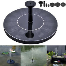 Solar Powered Floating Water Pump Fountain Pool Garden Pond For Bird Bath Tank