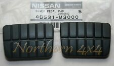 Nissan Navara D22 Clutch & Brake Pedal Rubber Pair Set 2 Genuine