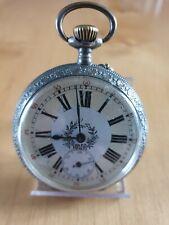 Taschenuhr steirische,  silber, graviertes Werk, Durchmesser 50,5 mm, läuft!