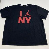 Air Jordan NY T-Shirt Mens XXXL Black Short Sleeve Crew Neck Spell Out Graphic