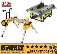 DeWALT DW745 DW745RS 240V 250mm Table Saw + DE7400 Rolling Leg Stand NEW