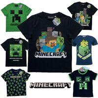 Boys Kids Child Children Minecraft Cotton Gamer T Shirt t-shirt Age 6-12 years