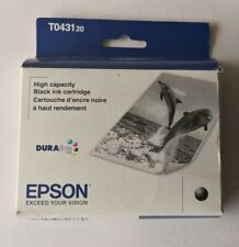 04-2018 NIB Genuine Epson T0431 Black Ink T043120 Stylus cx6600 cx6400 c86 84