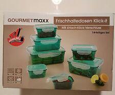 Gourmetmaxx Frischhaltedosen 14tlg Grün Klick-It