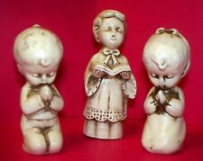 Wolin Christmas Figurines Choir Boy & 2 Praying Children Made In Japan