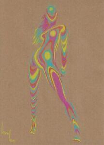 original drawing A4 530KV art Illustration Art pastel woman sketch Signed 2021