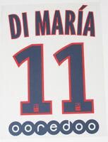 DI MARIA 11 - 15/16 PARIS SAINT-GERMAIN AWAY NAME & NUMBER SET = PLAYER SIZE