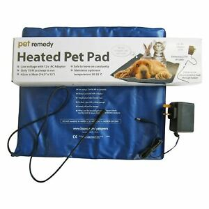 Pet Remedy Electrically Heated Pet Pad for Dog Rabbit Cat Low Voltage Warming UK
