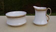 Royal Albert Crown China 'Pattern 5182' Creamer/Jug & Sugar Bowl Trio, Greek Key