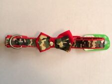 Red/Camo (XL) Bow-tie Collar, 24-28 inches, Top Paw, NEW, NWT, US SELLER