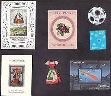 Austria 7 UNIQUE stamps ~ Glass Fabric Polyurethane Meteorite Dust Swarovski !!