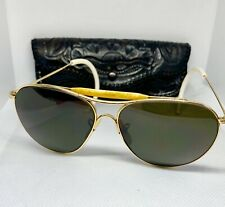 b9a86e7755 1940 s American Optical FULVUE Aviator Sunglasses 12K GF Calobar Vintage