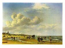 Adriaen van de Velde Der Strand von Scheveningen Poster Kunstdruck Bild 55x76cm