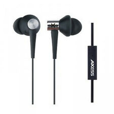 Axess EPMV106-BK Boombug Comfort Fit high quality earphone with microphone comp