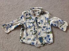 Next Baby Boys 9-12 Months Long Sleeve Holiday Shirt Palm Tree Pattern