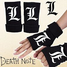 2016 New Anime Death Note Half Finger Gloves Cotton Mitten Lovers Cosplay Gift