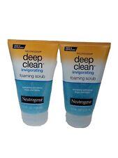 2 Pack Neutrogena Deep Clean Invigorating Foaming Scrub 4.20 Oz Each