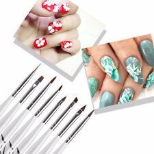 8 Pcs Nail UV Liner Brushes Kit Wooden Handle Gel Polish Dotting Drawing Tools