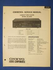 ONKYO DX-3800 CD SERVICE MANUAL ORIGINAL FACTORY ISSUE THE REAL THING     v1