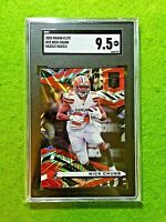 NICK CHUBB RAZZLE DAZZLE PRIZM CARD GRADED SGC 9.5 BROWNS SSP 2020 Donruss Elite